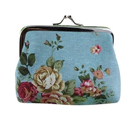 Monedero para Mujer con diseño de Rosas, Bolsa de Monedas ...