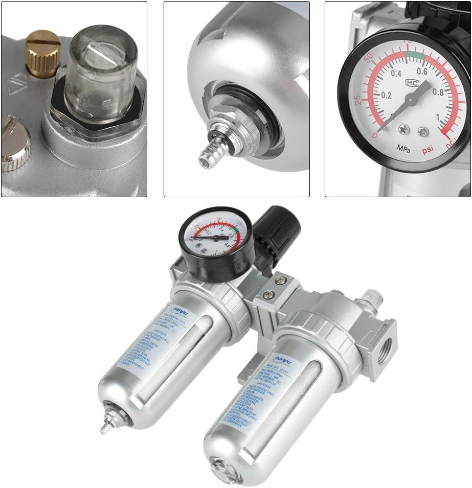 SFC400 Air Filter Regulator Compressor 1//2 inch Pressure Gauge W// Pressure Gauge