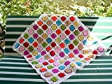 hand made baby blanket, granny square afghan blanket,handmade blanket, crochet blanket, crochet quilt, multicolor blanket