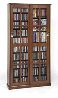 Beautiful Leslie Dame MS 700W Mission Multimedia DVD/CD Storage Cabinet With Sliding  Glass Doors