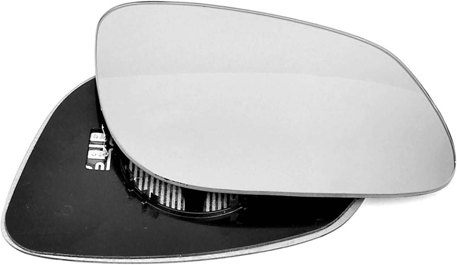 pilote c/ôt/é droit chauff/ée Wing Porte Miroir Argent/é en verre avec dos plaque # C-shy//R-pece02/ /à clipser
