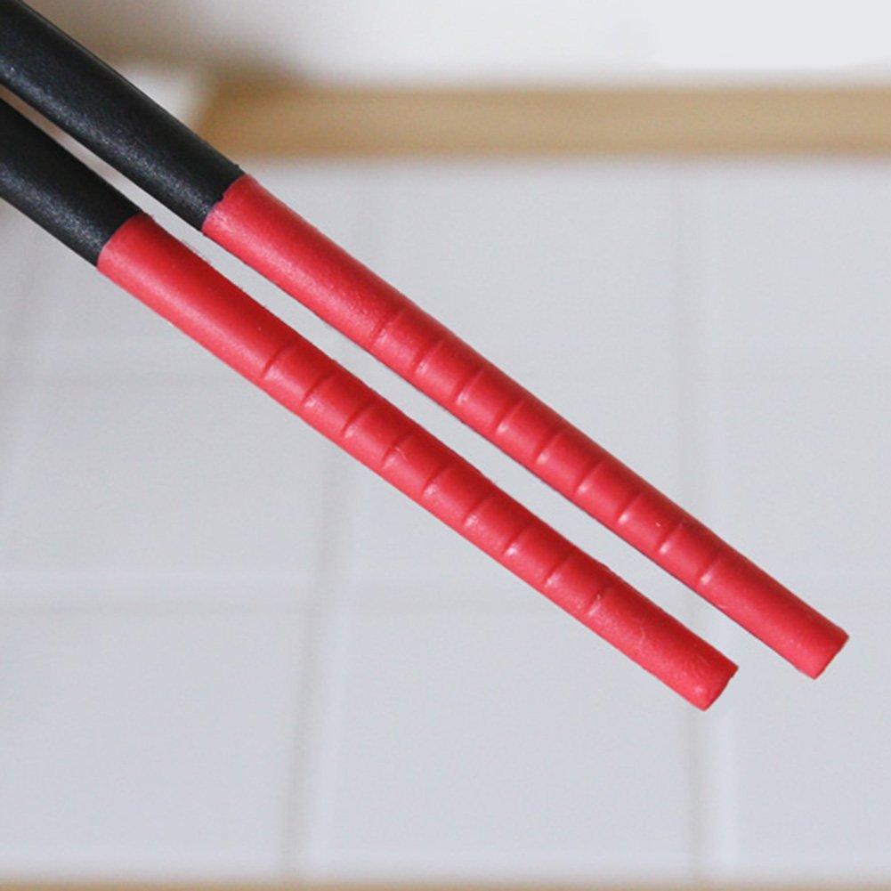 Silicone Tip Chopsticks, Red (Long 30cm)
