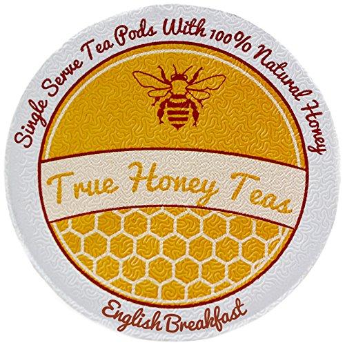 Honey Infused English Breakfast Single Serve Tea for Keurig K-Cup Brewers (Box of 22)