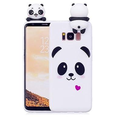 huge discount e3840 beb34 LAPOPNUT 3D Cartoon Panda Case for Samsung Galaxy S7 Case Soft Back Cover  Candy Colour Girly Bear Design Slim Flexible Protective Case Cover Bumper  ...