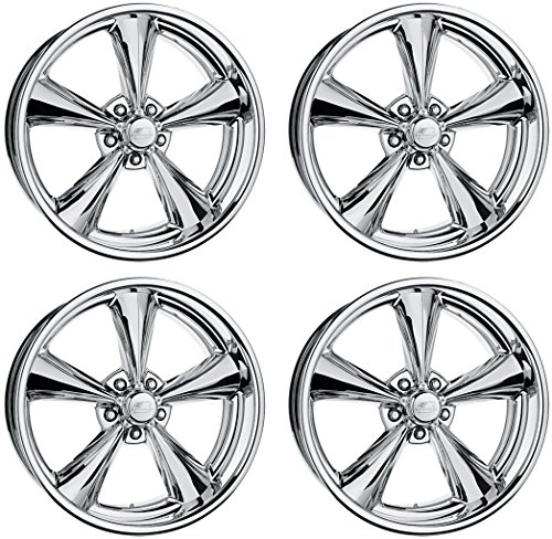 NEW BILLET SPECIALTIES MAG POLISHED ALUMINUM STAGGERED WHEEL SET, LEGENDS SERIES, 17x7x4