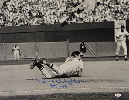 04d14e1094f Image Unavailable. Image not available for. Color  Brooks Robinson Signed  Blue Orioles ...