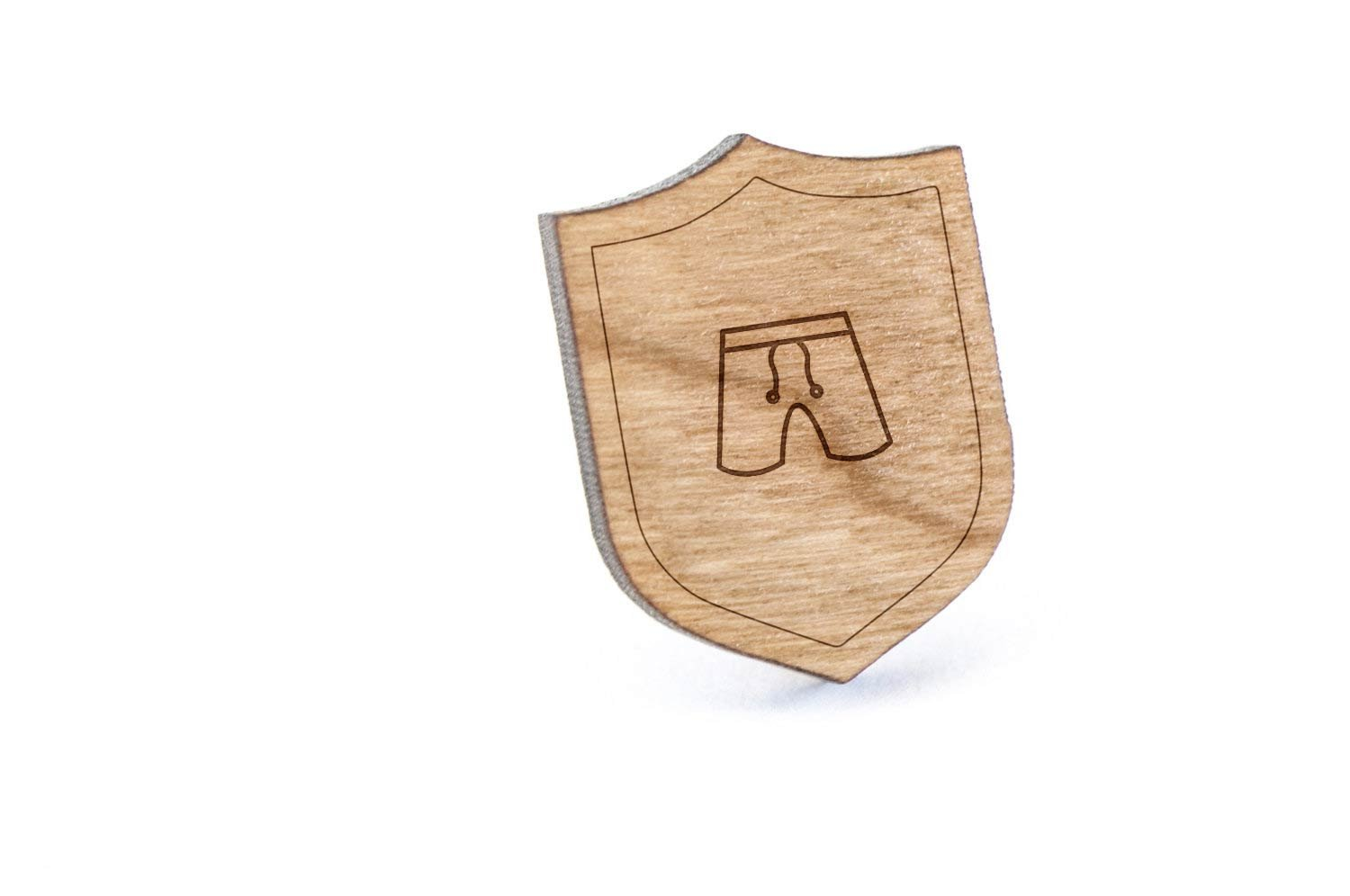 Boardshorts Lapel Pin, Wooden Pin And Tie Tack | Rustic And Minimalistic Groomsmen Gifts And Wedding Accessories