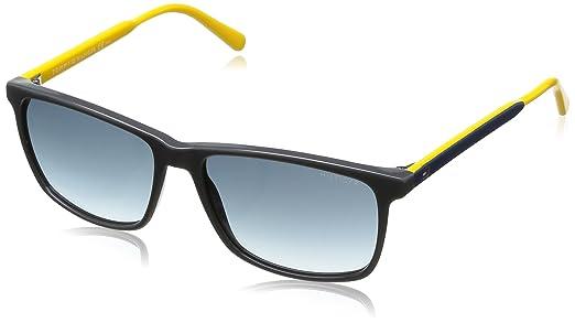 Tommy Hilfiger - Gafas de sol Wayfarer, color gis / amarillo ...