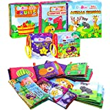 PlayShire Soft Books for Babies. 5 Cloth Books for Babies. Non-Toxic Newborn Books