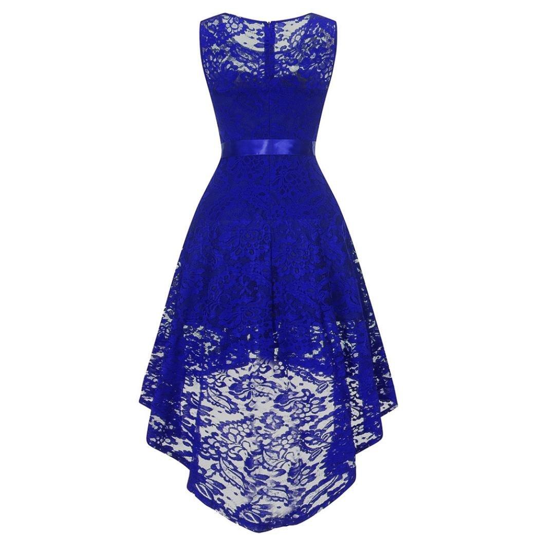XJLUS-Apparel Lace Dresses Women Maxi Sleeveless Formal Ladies Wedding Bridesmaid Long Dress