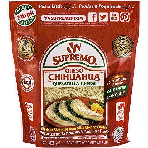 Supremo Queso Chihuahua Shredded Quesadilla Cheese, 2 Pound - 6 per case. ()