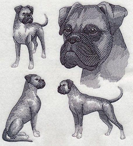 Boxer Dog (natural) Custom Embroidered Sweatshirt Shirt