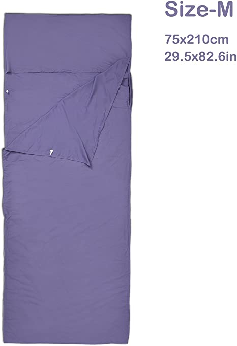 Topnaca - Saco de dormir de algodón coreano, sábana, suave, ligero ...