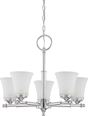 Nuvo Lighting 60 4265 Five Light Chandelier, Polished Chrome