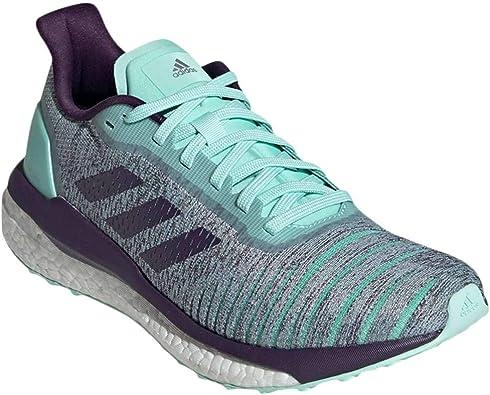 adidas Women's Solar Drive Running Shoes Clear Mint/Legend Purple/Active  Purple 8.5 B(M) US
