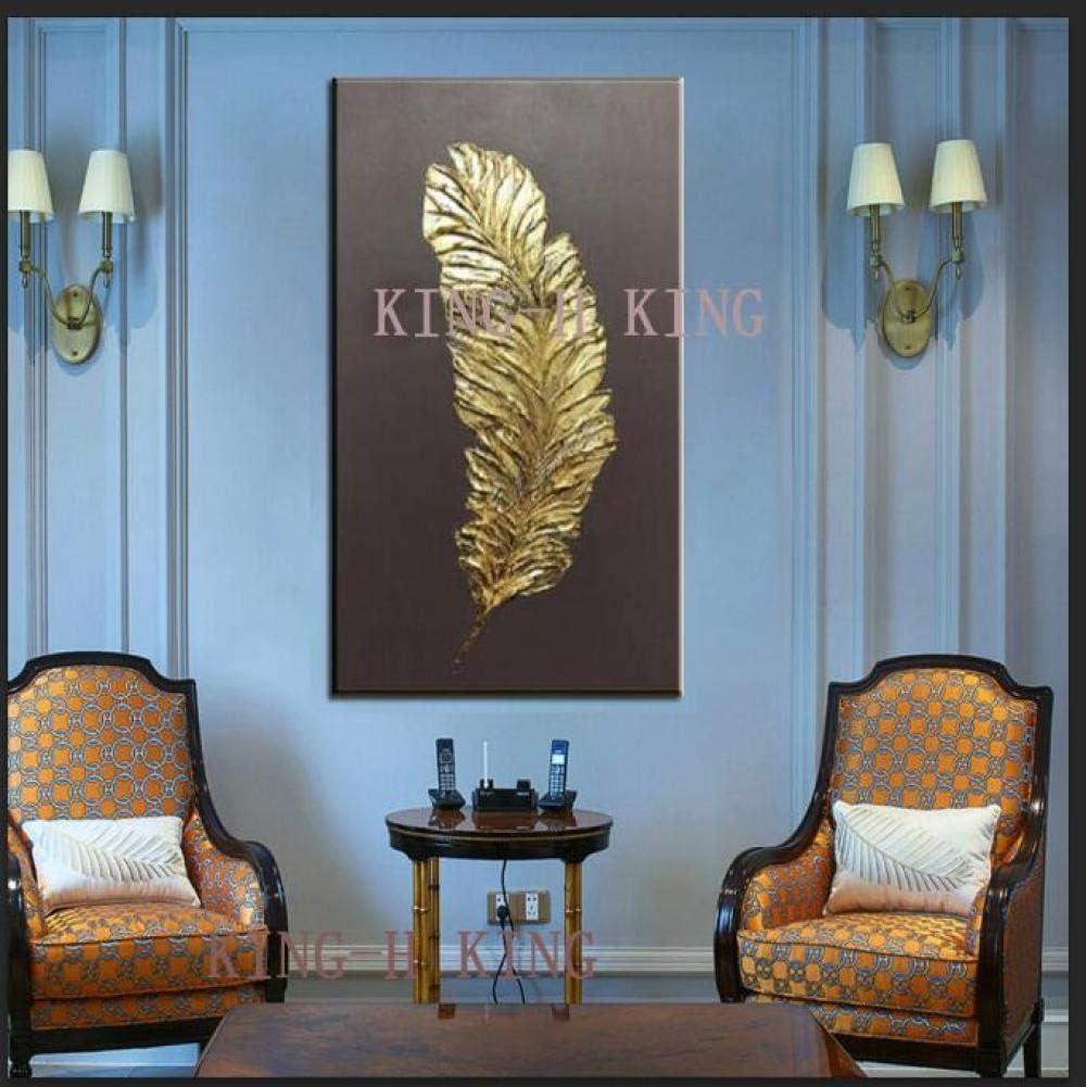 mmzki Famoso Pintor Pintado a Mano Oro Abstracto Pintura al óleo Lienzo Arte de la Pared Sala de Estar Pared decoración del hogar Pintura cuadros-50x100CM_KH5