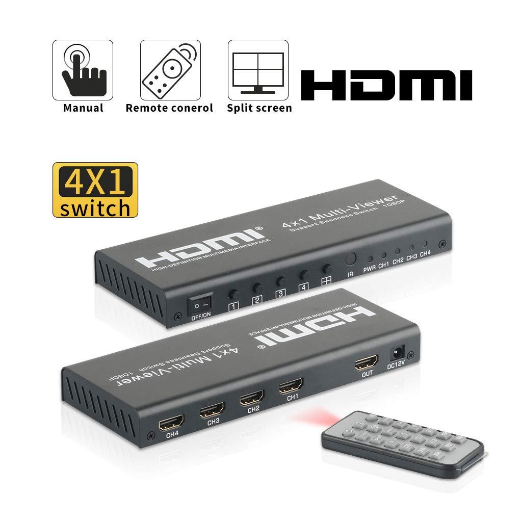 Elektronik & Foto Umschalter 4 Port HDMI Seamless Switch Screen ...