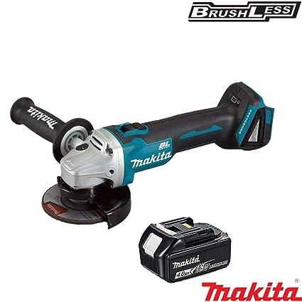 Makita DGA452Z 18V 115mm Cordless Angle Grinder With 1 x 4.0Ah BL1840 Battery