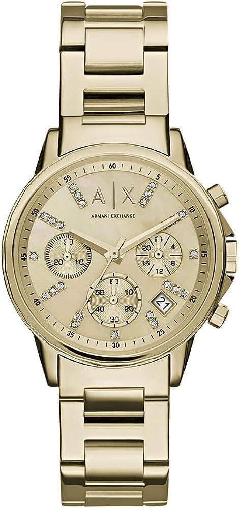 Armani Exchange Reloj Cronógrafo para Mujer de Cuarzo con Correa en Acero Inoxidable