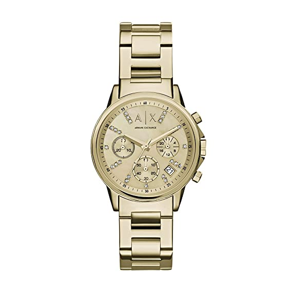 Amazon.com: Armani Exchange Womens AX4327 Gold Watch: Armani Exchange: Watches
