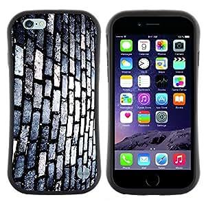 "Pulsar iFace Series Tpu silicona Carcasa Funda Case para Apple Iphone 6 Plus / 6S Plus ( 5.5 ) , Pared de ladrillo Camino Calle Moderno Arte Aleatorio"""