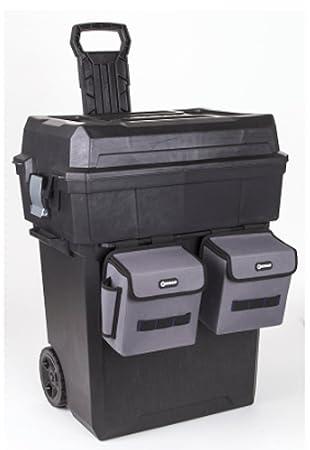 kobalt zerust 19-in black plastic lockable wheeled tool box ...