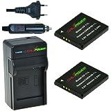 2x Batería + Cargador ChiliPower Canon NB-11L 800mAh para Canon PowerShot A2300 IS, A2400 IS, A2500, A2600, A3400 IS, A3500 IS, A4000 IS, ELPH 110 HS, ELPH 115 HS, ELPH 130 HS, ELPH 320 HS, ELPH 340 HS