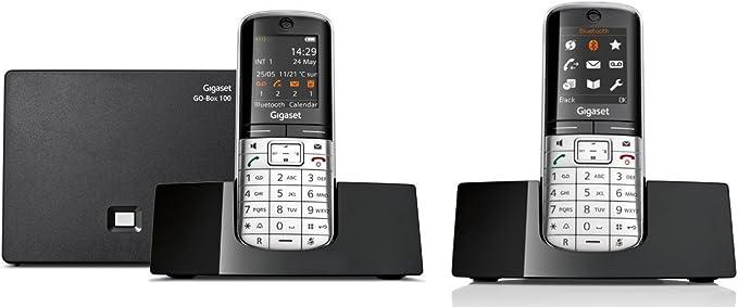 Gigaset SL400 A Go Duo Set con 2 terminales, Hybrid – Teléfono inalámbrico DECT (analógico y VoIP (All de IP) con contestador automático): Amazon.es: Electrónica
