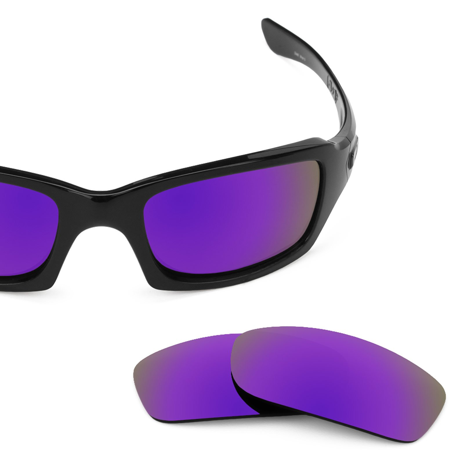 Revant Polarized Replacement Lenses for Oakley Fives Squared Plasma Purple MirrorShield