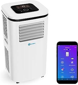 Rollibot ROLLICOOL Portable Air Conditioner w/App & Alexa Voice Control | Wi-Fi Enabled Portable AC & Dehumidifier | Quiet Operation, Easy Installation (12,000 BTU, White)