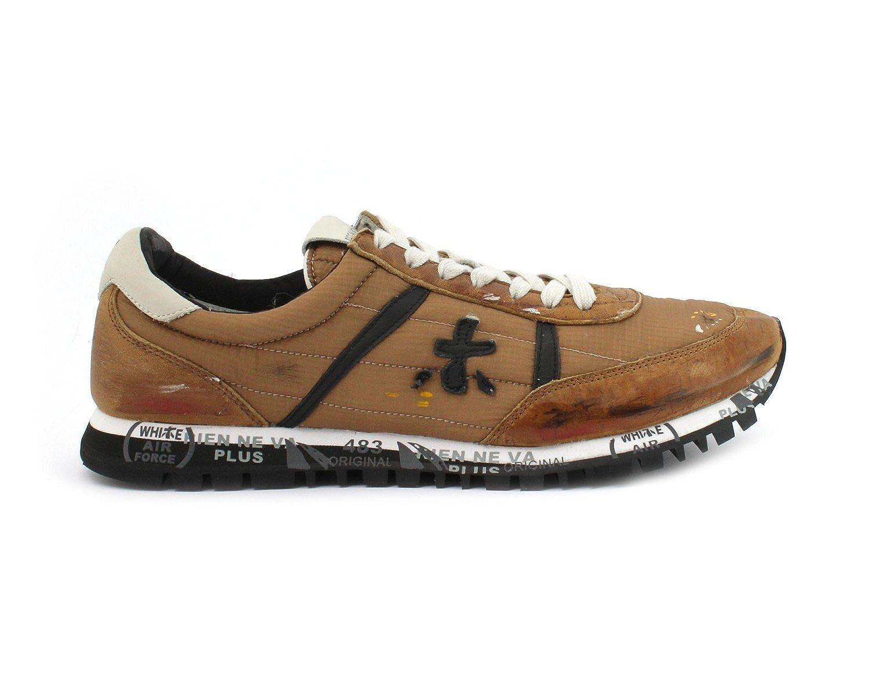 Premiata メンズ SEAN2896 ブラウン ファブリック 運動靴 B07BT6Q7LW