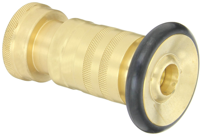 Dixon Valve HFN100 Brass Fire Equipment, Heavy Duty Industrial Fog Nozzle, 1'' NPSH