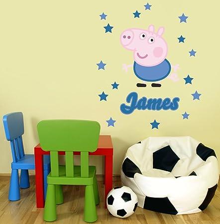 Peppa Pig Character George Pig Personalised Name Children\'s Bedroom ...