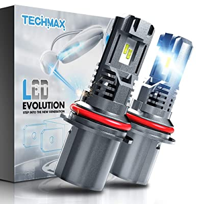 TECHMAX 9007 LED Headlight Bulb,Small Design 60W 10000Lm 6500K Xenon White ZES Chips Extremely Bright HB5 Conversion Kit of 2: Automotive