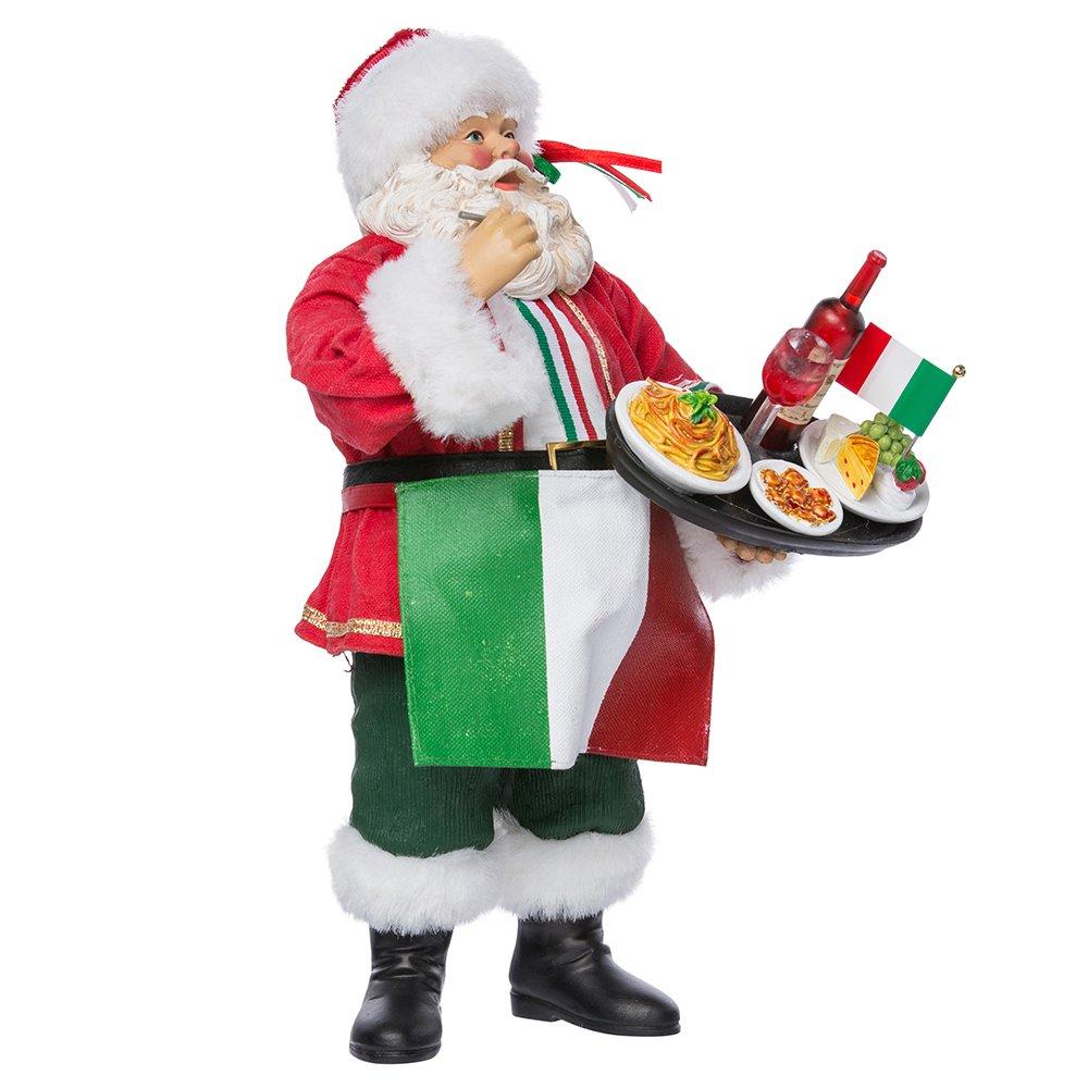 Kurt Adler Musical Fabriche Italian Santa Figurine, 10.5-Inch C7411