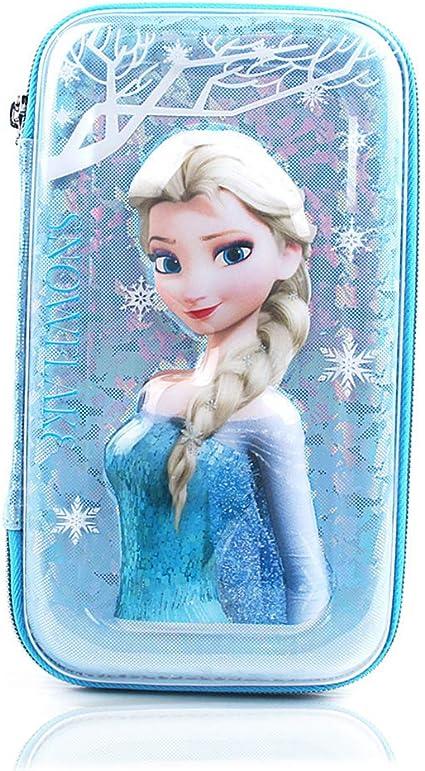 INTVN Estuche Escolar, Frozen Estuche Portatodo Dos Compartimentos,Bonito estuche con diseño de Frozen en relieve, estuche con múltiples compartimentos,: Amazon.es: Oficina y papelería