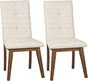 Signature Design By Ashley - Centiar Dining Upholstered Side Chair - Set of 2 - Casual Style - Two-tone Brown