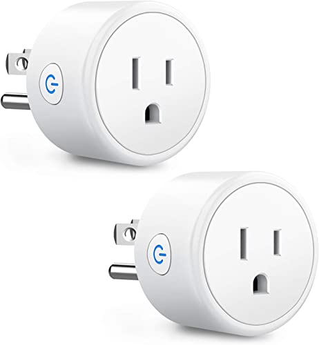 Smart Plug Work with Alexa Google Home, Aoycocr WiFi Remote Control Smart Outlet Support Timer Setting,Voice Control, No Hub Required, ETL FCC Listed 2 Pack Only 2.4GHz Network