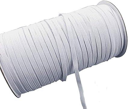 70 Yards Flat Elastic Band 3mm 1 8 Inch Wide Braided Stretch Strap
