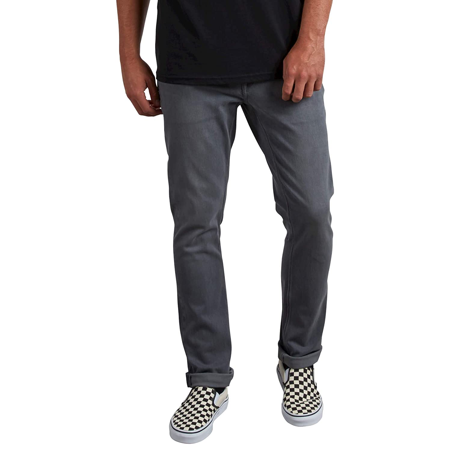 Volcom Mens Vorta Slim Fit Stretch Denim Jean