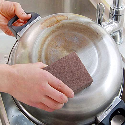 Inoxidable nanooxide cocina esponja lustrar arena de oro horno ...