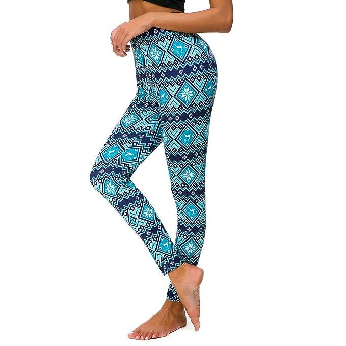 Navidad Impresos Leggings Yoga Mujer Pantalones Deportivos Mujer Largos  Leggings para Running Deportes 3D ImpresióN Pantalones Push Up Mujer  Legging ... 136498606c07