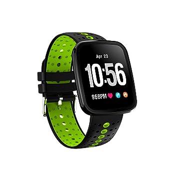 Relojes de fitness con monitor de ritmo cardíaco, pantalla a color TechCode Reloj de pulsera inteligente Rastreador de actividades Modo multideporte ...