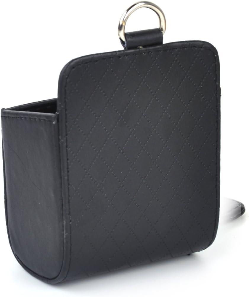 beler Beige Universal PU Leder Auto Air Vent Outlet Speicher Handy Halterung Tasche Organisator Beutel Trash Case Halter