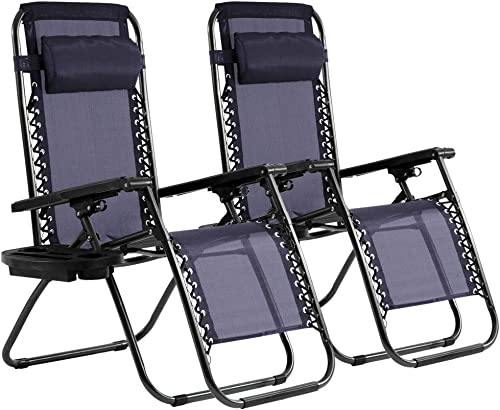 Zero Gravity Chair Patio Chair Lounge Chair Chaise 2 Pack Outdoor Folding Adjustable Recliner Chair