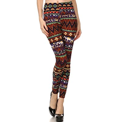 Always Printed Stretch Colorful Smudges Cute Tights - Sexy Leggings OS 2-12 at Women's Clothing store