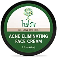 TreeActiv Acne Eliminating Face Cream 2 fl oz (60 ml), Anti Pimple and Blemish Treatment, Clear Facial Spots, Blackheads, and Whiteheads, Skin Care for Acne Prone Men, Women, and Teens