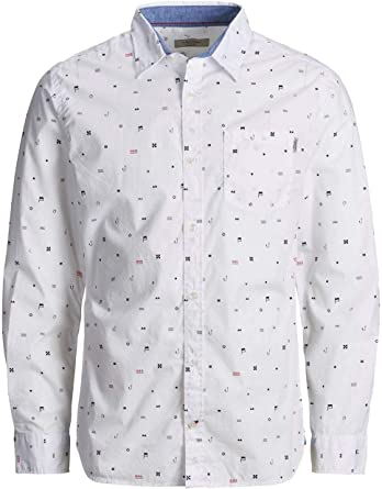 Camisa Jack and Jones Miles Blanco Hombre XL Blanco: Amazon.es: Ropa y accesorios