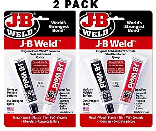 (J-B Weld 8265S Original Steel Reinforced Epoxy Twin Pack - 2 oz (Pack of 2))