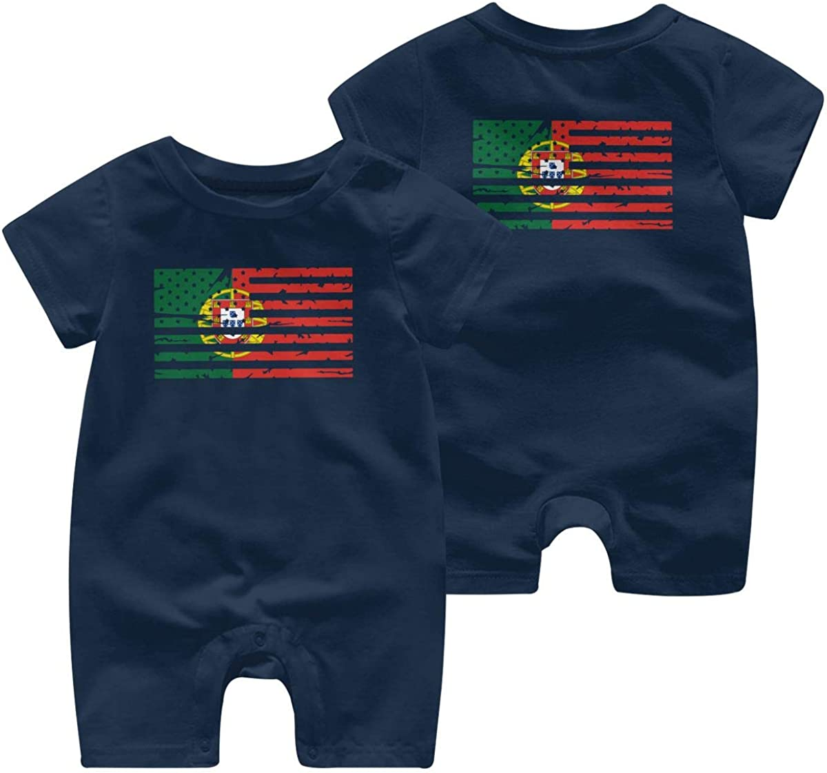 Mri-le1 Newborn Baby Bodysuits Portugal American Flag Toddler Jumpsuit